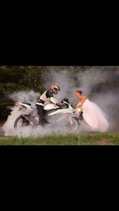 Wedding biker