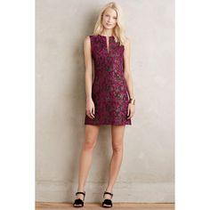 Nanette Lepore Ardeche Shift ($378) ❤ liked on Polyvore featuring dresses, wine, bohemian dress, jacquard dress, holiday party dresses, party dresses and bohemian style dresses