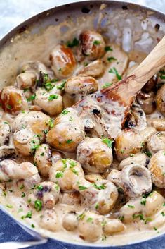 Creamy Garlic Parmesan Mushrooms - Recipes de-Cremige Knoblauch Parmesan Pilze – Rezepte de Creamy garlic parmesan mushrooms are sautéed in a butter garlic until they are soft and then tossed in the AMAZING creamy parmesan sauce. These are as big as […] - Vegetable Side Dishes, Vegetable Recipes, Vegetarian Recipes, Cooking Recipes, Healthy Recipes, Vegetable Thanksgiving Side Dishes, Veggie Heavy Recipes, Cooking Ideas, Keto Recipes