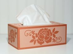 The Paper Boutique: Tissue Box Cover made with her Silhouette and Tombow's New Xtreme Adhesive