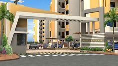 Image result for entrance gate design for township