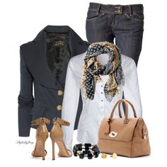 """A Scarf is Like Icing on the Cake"" by stylesbyjoey on Polyvore"