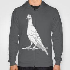 Friedenstaube,Dove of Peace Hoody by Birgit - $38.00