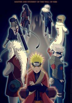 Naruto, quien se esforzó para ser quien es ahora y hacer sentir orgulloso a sus predecesores.