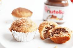 When I think of Autumn, I can't not think of cinnamon. I adore cinnamon, ever had it in hot chocolate? Try it. It's like Autumn in a cup. So, it's only natural that I'd want to combine cinnamon with chocolate, and came across this wonderful little recipe. Doughnut-like muffins, covered in cinnamon sugar with a heap of Nutella in the middle, like a little chunk of happiness in every one. They're ridiculously easy too, very… Continue Reading