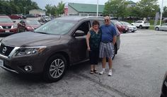 Laurie and Robert's new 2015 NISSAN PATHFINDER! Congratulations and best wishes from North Country Nissan and MIKE CLODGO.