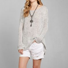 Womens Hallie Marled Sweater | Womens Sweaters | Abercrombie.com
