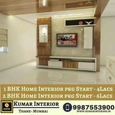 If you are planning to interior new home? Kumar Home Interior designing services to give the real shape to your dream home. Affordable Home Interior packages! 1 BHK Home Interior pkg Start - Home Interior Pkg start Tv Unit Interior Design, Lcd Unit Design, Interior Design Chicago, Interior Design Services, Interior Designing, Interior Door, Pooja Room Design, Hotel Room Design, Tv Unit Furniture