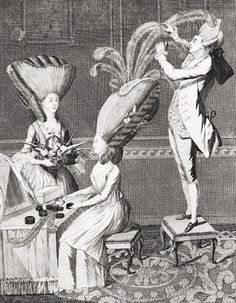 1776. Matthew Darly. The Preposterous Head Dress, or the Featherd Lady. London. The Lewis Walpole Library, Yale University.