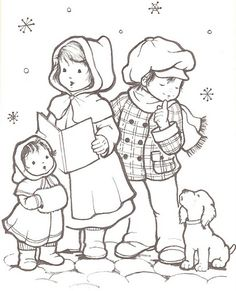 Coloring for adults - Kleuren voor volwassenen Christmas Coloring Pages, Coloring Book Pages, Coloring Sheets, Christmas Images, Christmas Colors, Vintage Christmas, Arte Country, Christmas Embroidery, Digital Stamps