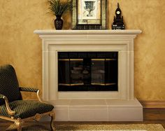 If you want to capture the lemon-scented flavor of an Italian island in your home, check out our Capri Cast Stone Fireplace mantel and a new design to come. Modern Fireplace Mantels, Stone Fireplace Surround, Stone Fireplace Mantel, Brick Fireplace Makeover, Limestone Fireplace, Traditional Fireplace, Fireplace Ideas, Stone Fireplaces, Living Room Goals
