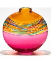 Little River Hot Glass Transparent Vortex Banded Vase- Free Shipping