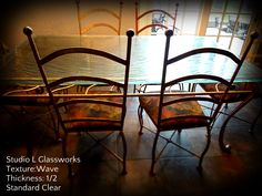 """Textured 1/2"""" thick, Standard Clear Glass, Wave Texture by Studio L Glassworks"""