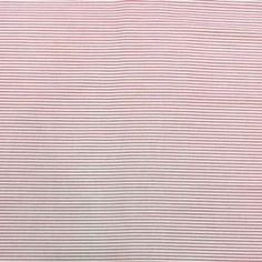 Tela de Patchwork de rayas en tonos blanco y rosa. El precio de la unidad es el cuarto. Ancho 1,10mt