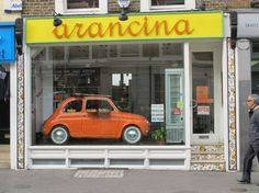 Arancina, traditional homemade Sicilian food in Notting Hill.  http://www.arancina.co.uk/home.html