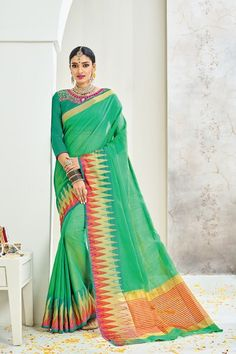 2fa9e0e4db Cotton Saree, Blouse Online, Sari, Suits, How To Wear, Shopping,
