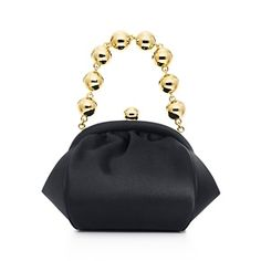 Bracelet bag in onyx satin. More colors available.