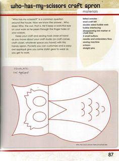 המצא אמנות: סינר ינשוף עם עובש