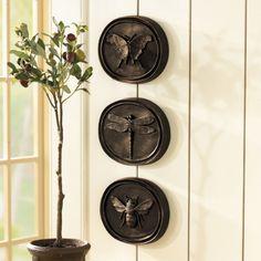Shed doors..http://www.ballarddesigns.com/set-of-3-entomology-plaques/wall-decor/top-sellers/11976