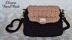 Сумка клатч из трикотажной пряжи. Мастер класс крючком. Clutch bag crochet