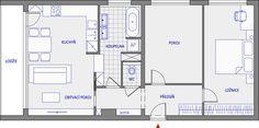 Nová dispozice bytu 3+kk v pražských Strašnicích Floor Plans, Floor Plan Drawing, House Floor Plans