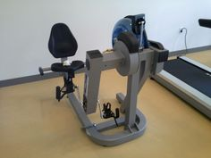 Accessible workout machine.