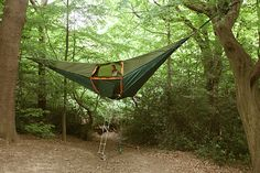 Tentsile portable treehouse looks like a inverted pyramid | Designbuzz : Design ideas and concepts