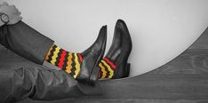 5 Reasons To Buy Attention Grabbing Socks Classic Man, Timeless Classic, Timeless Fashion, Classic Style, Real Men Real Style, Blue Suede Shoes, Patterned Socks, Colorful Socks, Cool Suits