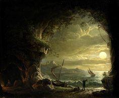 Landscape, Moonlight  Edmund Glover (1816–1860)  Glasgow Museums Resource Centre (GMRC)