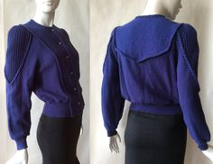 Stunning Geiger wool sweater jacket made in by afterglowvintage European Style, European Fashion, Sweater Jacket, Men Sweater, Metal Buttons, Wool Sweaters, Austria, Flannel, Vintage Outfits