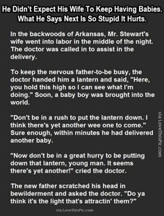 Did Not Expect His Wife To Keep Having Babies But What He Says Next Is So Stupid It Hurts funny jokes story lol funny quote funny quotes funny sayings joke hilarious humor stories funny jokes best jokes ever best jokes New Funny Jokes, Good Jokes, Haha Funny, Funny Texts, Hilarious, Funny Stuff, Funny Shit, Random Stuff, Baby Jokes