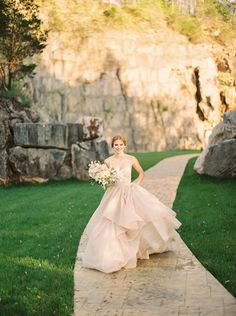 Dreamy Blush Wedding Dress for a Natural Glam Wedding Olive Wedding, Wedding Suits, Wedding Dresses, Enchanted Forest Wedding, Blush Bridal, Destination Wedding Planner, Bridal Shoot, Wedding Looks, Flower Girl Dresses