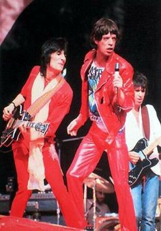 Ron Wood, Mick Jagger and Keith Richards, The Rolling Stones