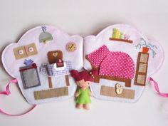 Epres Enci muffin házikója- játszókönyvecske, Baba-mama-gyerek, Játék, Készségfejlesztő játék, Plüssállat, rongyjáték, Meska