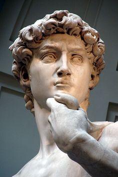 David, Michelangelo Buonarroti, marmo, 1501-1504, Galleria dell'Accademia, Firenze
