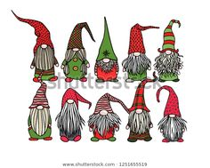 Find Vector Christmas Card Hand Drawn Cute stock images in HD and millions of other royalty-free stock photos, illustrations and vectors in the Shutterstock collection. Thousands of new, high-quality pictures added every day. Christmas Gnome, Christmas Art, Vector Christmas, Christmas Doodles, Christmas Drawing, Illustration Noel, Christmas Cards Illustration, Cute Stories, Pop Culture Halloween Costume