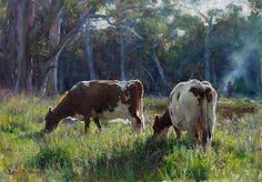 Raymar Art Painting Competition Finalists Burning Off by John McCartin x… Australian Painting, Australian Artists, Farm Paintings, Animal Paintings, Landscape Art, Landscape Paintings, Painting Competition, Cow Painting, Cow Art