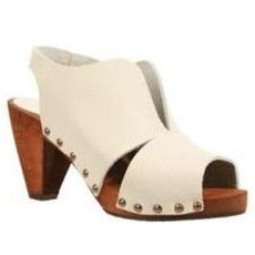 Sanita Wood Ute Cone Sandal in Off White $69.95