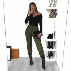 Look com calça cargo - Source by - Best Casual Outfits, Trendy Summer Outfits, Fall Outfits, Teen Fashion, Fashion Outfits, Womens Fashion, Fashion Nova Clothing, Fashion Nova Pants, Fashion Trends
