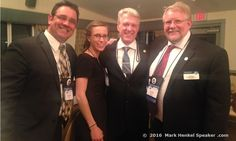 Good times: Danielle Hardre was the right-hand woman for Bob Bechtold and Jeff Hebert who co-chaired the organizing of the District 45 Toastmasters 2016 Spring Conference, May 20-22, 2016.