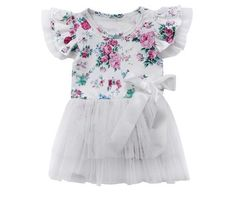 6a97606653e Baby girls flower romper clothes. Baby Girl Dresses ...