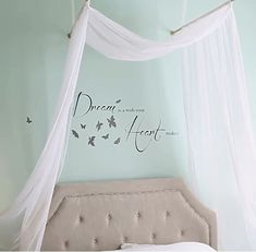 Beautiful DIY Romantic Bed Canopy | Simple Bedroom DIY Home Decor for Teens by DIY Ready at http://diyready.com/diy-home-decor-under-an-hour/