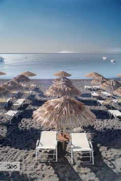 Kamari Beach, Santorini, Greece