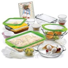 Amazon.com: Anchor Hocking 32-Piece Ovenware Set with TrueFit TM See-Thru Lid: Bake And Serve Sets: Kitchen & Dining
