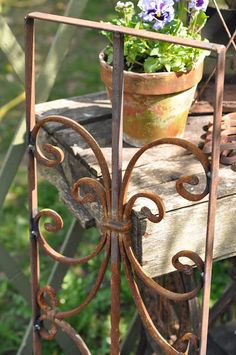 Pretty rusty gate with shabby table...nice