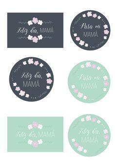 Tarjetas para el día de la madre! + set de etiquetas + 3 papeles exclusivos: Actitud y alegría.