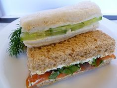 TEA PARTY SANDWICHES  1.Classic Cucumber  2.Cucumber with Wasabi & Lime    C/Cheese  3.Smoked Salmon with Dill & Lemon C/Cheese