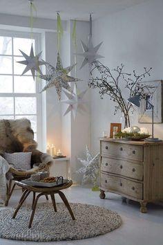 Sterne basteln im Winter Christmas And New Year, Winter Christmas, Christmas Home, Christmas Crafts, Diy Academy, Navidad Diy, 242, Paper Stars, Diy Weihnachten