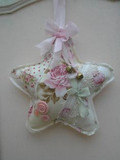 Star Lavender Sachet Door Hanger Shabby Chic Pink by paintedquilts, $17.95