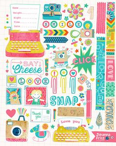 #Scrapbook page by Johanna Fritz for #Makeartthatsells e-course